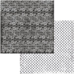 BoBunny - Tuxedos and Tiaras Collection - 12 x 12 Double Sided Paper - Lace