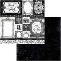 BoBunny - Tuxedos and Tiaras Collection - 12 x 12 Double Sided Paper - Black Tie