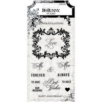 BoBunny - Tuxedos and Tiaras Collection - Clear Acrylic Stamps