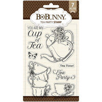 BoBunny - Clear Acrylic Stamps - Tea Party