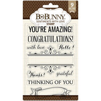 BoBunny - Clear Acrylic Stamps - Sentiments