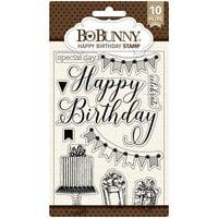 BoBunny - Clear Acrylic Stamps - Happy Birthday