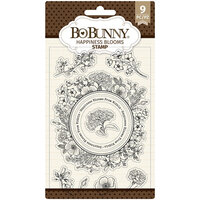 BoBunny - Clear Acrylic Stamps - Happiness Blooms