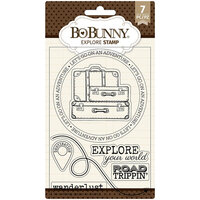 BoBunny - Clear Acrylic Stamps - Explore