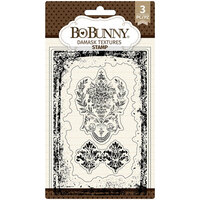 BoBunny - Clear Acrylic Stamps - Damask Texture