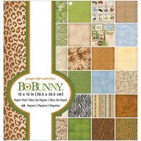 BoBunny - 12 x 12 Paper Pad - Jungle Life