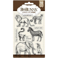 BoBunny - Clear Acrylic Stamps - Jungle Life