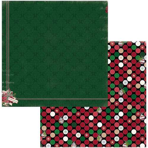 BoBunny - Joyful Christmas Collection - 12 x 12 Double Sided Paper - Cheer