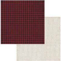BoBunny - Joyful Christmas Collection - 12 x 12 Double Sided Paper - Plaid