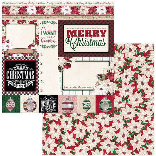 BoBunny - Joyful Christmas Collection - 12 x 12 Double Sided Paper - Merry