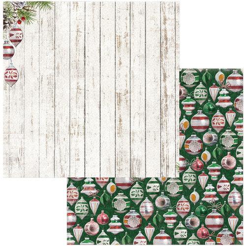BoBunny - Joyful Christmas Collection - 12 x 12 Double Sided Paper - Ornaments