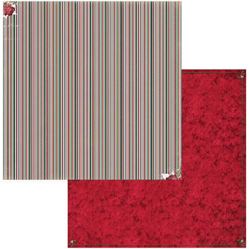 BoBunny - Joyful Christmas Collection - 12 x 12 Double Sided Paper - Stripe