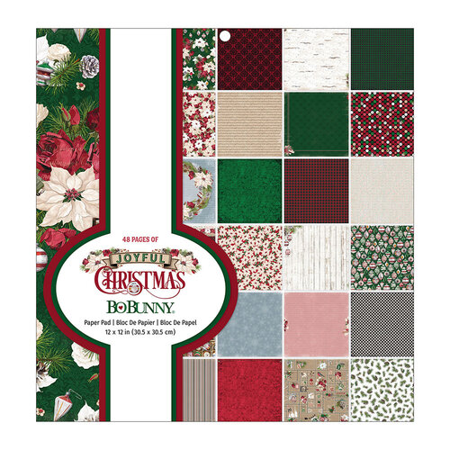 BoBunny - Joyful Christmas Collection - 12 x 12 Paper Pad