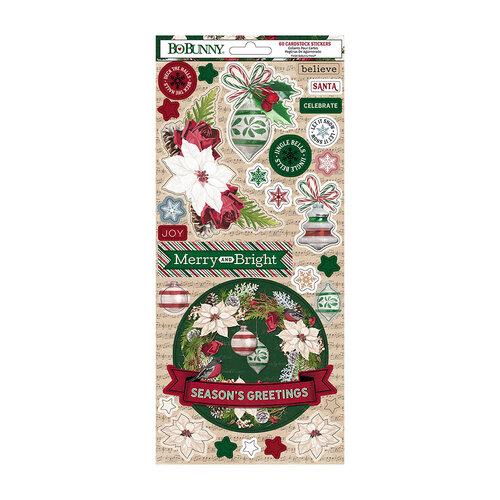 BoBunny - Joyful Christmas Collection - 6 x 12 Cardstock Stickers
