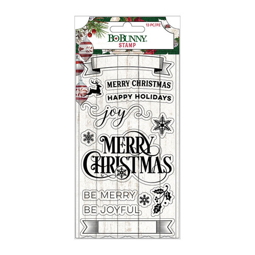 BoBunny - Joyful Christmas Collection - Clear Acrylic Stamps