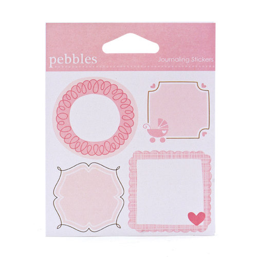 American Crafts - Pebbles - New Arrival Collection - Cardstock Stickers - Journaling Girl