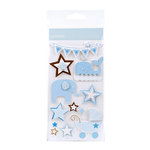 American Crafts - Pebbles - New Arrival Collection - 3 Dimensional Stickers - Boy Icons