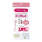 American Crafts - Pebbles - Ever After Collection - 3 Dimensional Stickers - Words