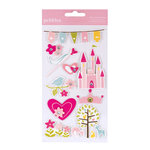 American Crafts - Pebbles - Ever After Collection - 3 Dimensional Stickers - Icons