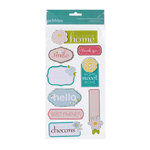 American Crafts - Pebbles - Floral Lane Collection - 3 Dimensional Stickers - Phrase