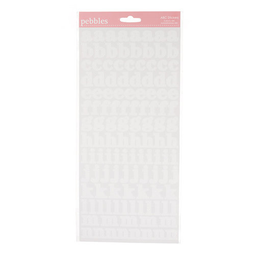American Crafts - Pebbles - New Addition Girl Collection - Stickers - Alphabet - White