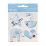 American Crafts - Pebbles - New Addition Boy Collection - 3 Dimensional Cardstock Stickers