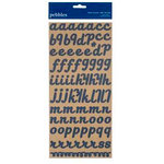 American Crafts - Pebbles - Fresh Goods Collection - Stickers - Alphabet - Denim