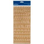 American Crafts - Pebbles - Fresh Goods Collection - Stickers - Alphabet - Kraft