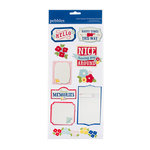 American Crafts - Pebbles - Fresh Goods Collection - 3 Dimensional Stickers - Phrases and Icons