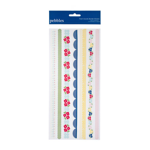 American Crafts - Pebbles - Fresh Goods Collection - Embossed Stickers - Borders