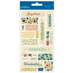 American Crafts - Pebbles - Fresh Goods Collection - Embossed Stickers - Masking Tape
