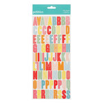 American Crafts - Pebbles - Hip Hip Hooray Collection - Stickers - Alphabet - Multi