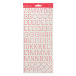 American Crafts - Pebbles - Country Picnic Collection - Stickers - Alphabet - Raspberry