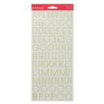 American Crafts - Pebbles - Country Picnic Collection - Stickers - Alphabet - Spinach