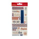 American Crafts - Pebbles - Let Freedom Ring Collection - Embossed Stickers - Masking Tape