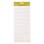 American Crafts - Pebbles - Sunnyside Collection - Stickers - Corrugated Alphabet - Cream