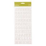 American Crafts - Pebbles - Sunnyside Collection - Stickers - Corrugated Alphabet - Cream