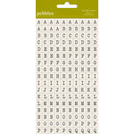 American Crafts - Pebbles - Sunnyside Collection - Stickers - Mini Alphabet