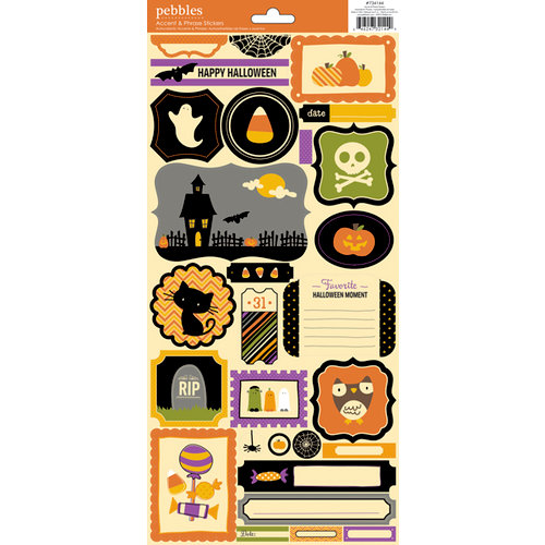 American Crafts - Pebbles - Tricks and Treats Collection - Halloween - Cardstock Stickers - Accent and Phrase 2