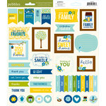 American Crafts - Pebbles - Family Ties Collection - Cardstock Stickers - Titles Banners and Quotes