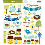 American Crafts - Pebbles - Family Ties Collection - Cardstock Stickers - Accents and Phrases