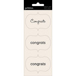 Pebbles - Basics Collection - Cardstock Stickers - Card Sentiment Phrases - Congrats