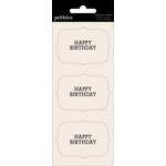 American Crafts - Pebbles - Basics Collection - Cardstock Stickers - Card Sentiment Phrases - Happy Birthday
