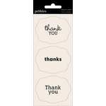 American Crafts - Pebbles - Basics Collection - Cardstock Stickers - Card Sentiment Phrases - Thank You