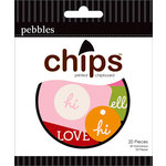 American Crafts - Pebbles - Basics Collection - Chips - Chipboard Pieces - Tags - Blue, Purple, Ash and Black