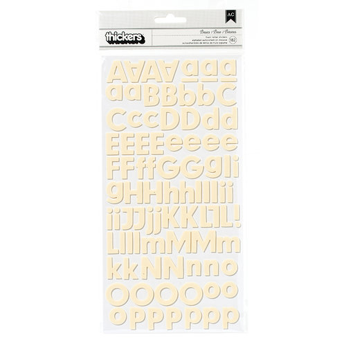 American Crafts - Pebbles - Basics Collection - Thickers - Foam Stickers - Cream