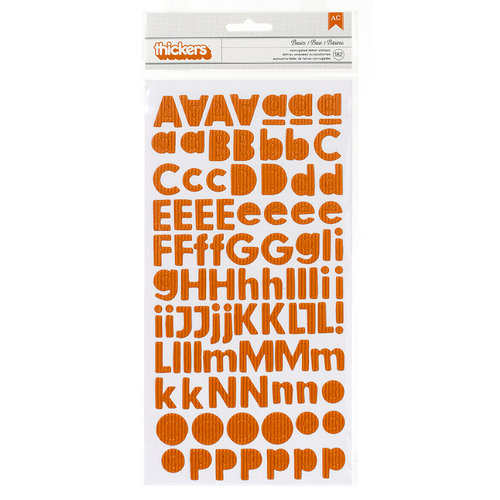 American Crafts - Pebbles - Basics Collection - Thickers - Foam Stickers - Apricot