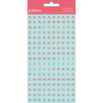 American Crafts - Pebbles - Love You More Collection - Cardstock Stickers - Mini Alphabet - Girl