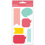 American Crafts - Pebbles - Love You More Collection - Chipboard Shapes - Girl