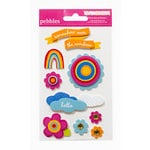 American Crafts - Pebbles - Party with Amy Locurto - 3 Dimensional Stickers - Rainbow